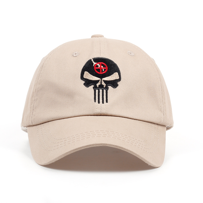 100% Cotton Embroidered Hero US Punisher SKULL Logo   Baseball     Cap   Tactics Snapback Hats Outdoor Casual Sport Dad Hat High Quality