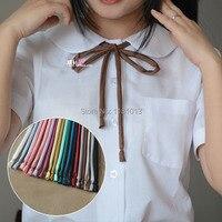 10ピース/ロットを新しい薄いストリップ滑らかな襟ロープ|日本高校制服ネックロープjk制服かわいいカワイイ襟弓ネクタイ