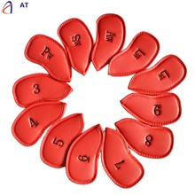 FishSunDay Golf Club Iron Head Covers Golf Leather Protection Set easy to attach and remove portable Useful Drop shipping Aug11(China)