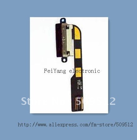 50 шт. лучшие оэм-порт Зарядное устройство зарядки Порты и разъёмы станция для зарядки с гибким кабелем для iPad 2/3/4 с гибкими резиновыми запасными частями