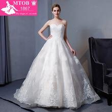 עיצוב חדש אונליין חתונה תחרת 2018 שמלות מתוקה ללא משענת אלגנטית סקסי וינטג חתונה בחנות מקוונת של סין MTOB1817