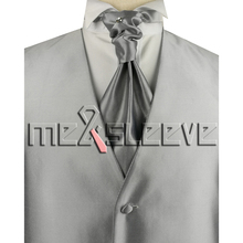 hot sale free shipping Mens Suit silver jacquard fabric Tuxedo Dress Vest