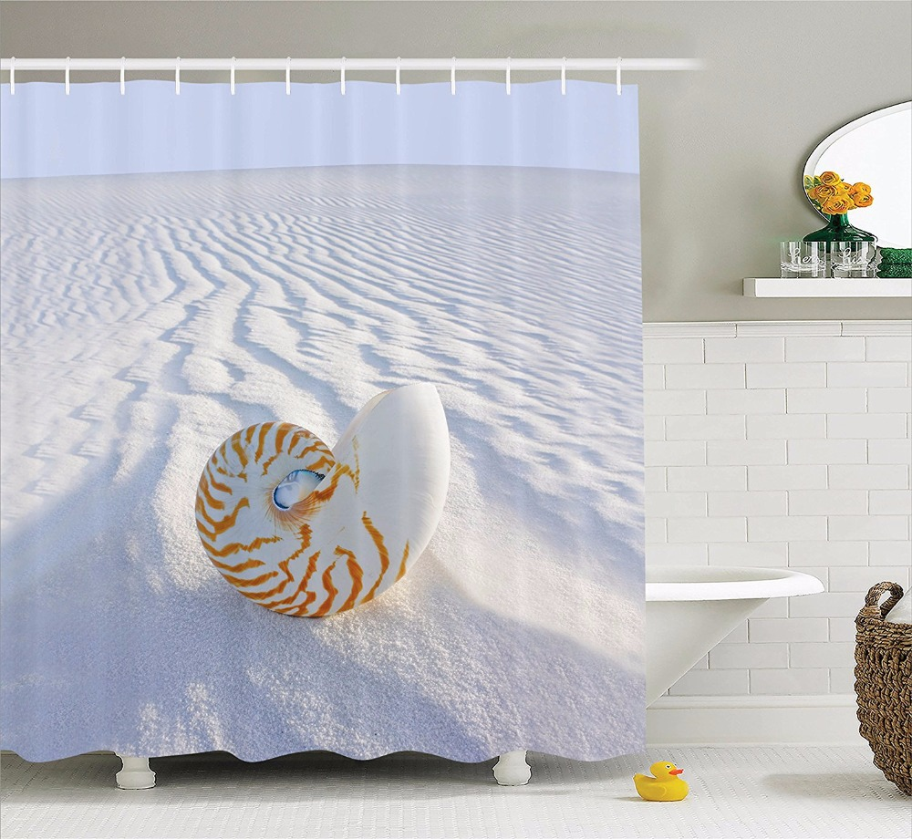 High Quality Arts Shower Curtains Beach Series Of Conch Sand Dunes ...