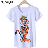 Luxury Brand Designer Women S Beading Sequins T Shirts Character Cute Tiger Pattern Lady Summer Trendy