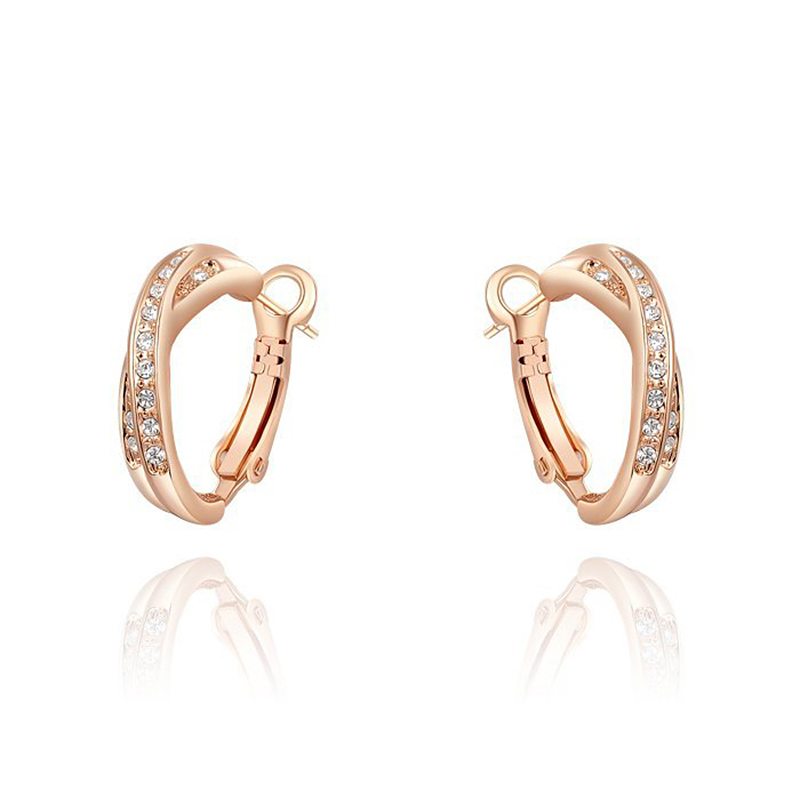 ROXI Christmas Gift Luxury Stud Earrings Rose Gold Color Austrian Crystals Handmade Fashion Women Earrings Wedding Party Jewelry