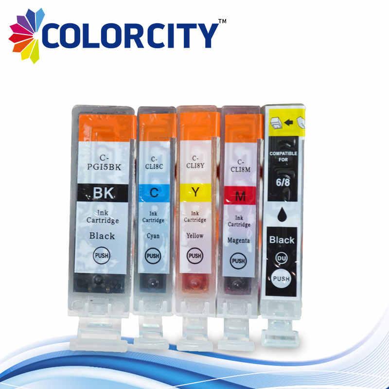 5 Pcs PGI 5 CLI 8 PGI-5 CLI-8 Tinta Kartrid untuk Canon PIXMA IP4200 IP4300 IP4500 IP5200 MP500 MP530 MP600 MP800 MX850, tinta Penuh