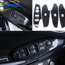 SUNFADA [LHD] хром АБС/углеродное волокно, отделка подлокотника двери, стеклоподъемник, переключатель автомобиля, чехлы для новой MAZDA 3 AXELA-, автомобильный стиль