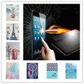 Мода Красочные Картины PU Кожаный Чехол для samsung galaxy tab A 9.7 SM-T555 T550 Стенд Задняя Крышка + Закаленное Стекло Экрана Фильма