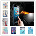 Fashion Colorful Painting PU Leather Case for samsung galaxy tab A 9.7 SM-T555 T550 Stand Back Cover+Tempered Glass Screen Film