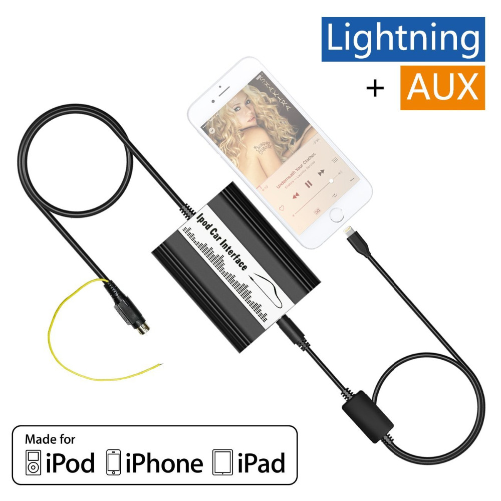 Auto iPod iPhone Adapter Car MP3 Interface Lightning 8 Pin Charger for  Volvo SC700 SC800 SC801 SC802 SC805 SC810R SC811 Radio-in Car MP3 Players  from ...