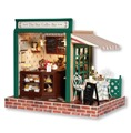 DIY Wooden Dolls house Miniatures Handcraft Kit -- Star coffee bar English instruction & Furnitures