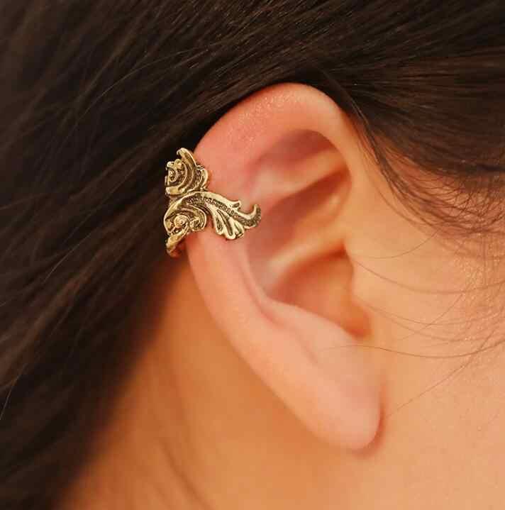 Ea1169 женские Модные Винтаж Металл Панк Творческий Золотая рыбка клипсы жемчуг не надо прокалывать уши уха клип женских украшений
