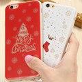 Para iphone 6 6 s caja de regalos de navidad arte impreso glow in the dark cubierta para iphone 6 6 s 7 más caso coque lindo encantador de la cubierta de tpu