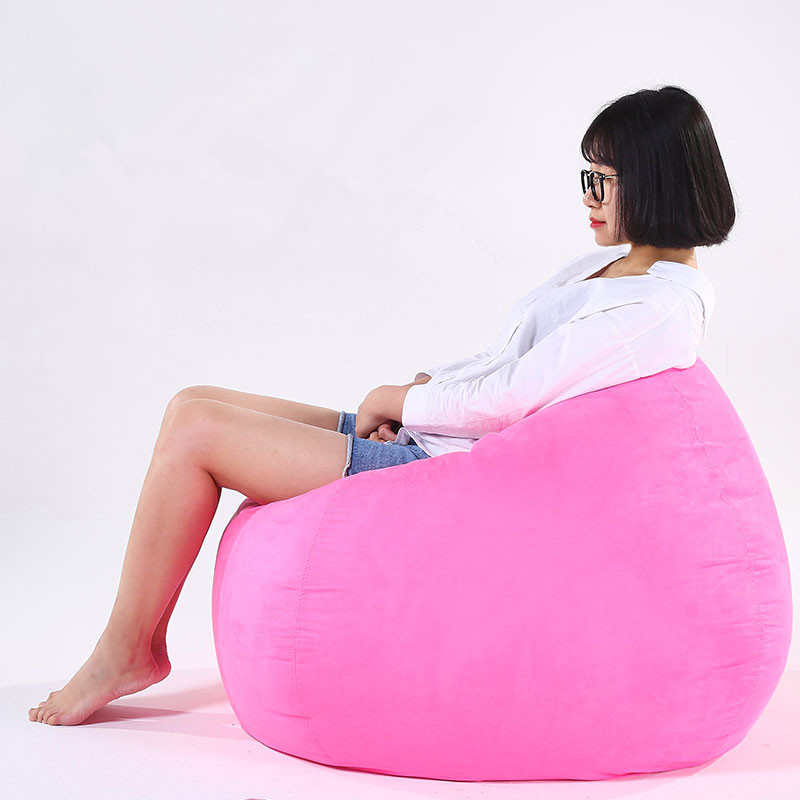 Lazy Sofa Single Bean Bag Sofa Adult And Child Size Couch Bedroom Floor Sofa Chair Tatami Balcony Net Red Creative With Filling