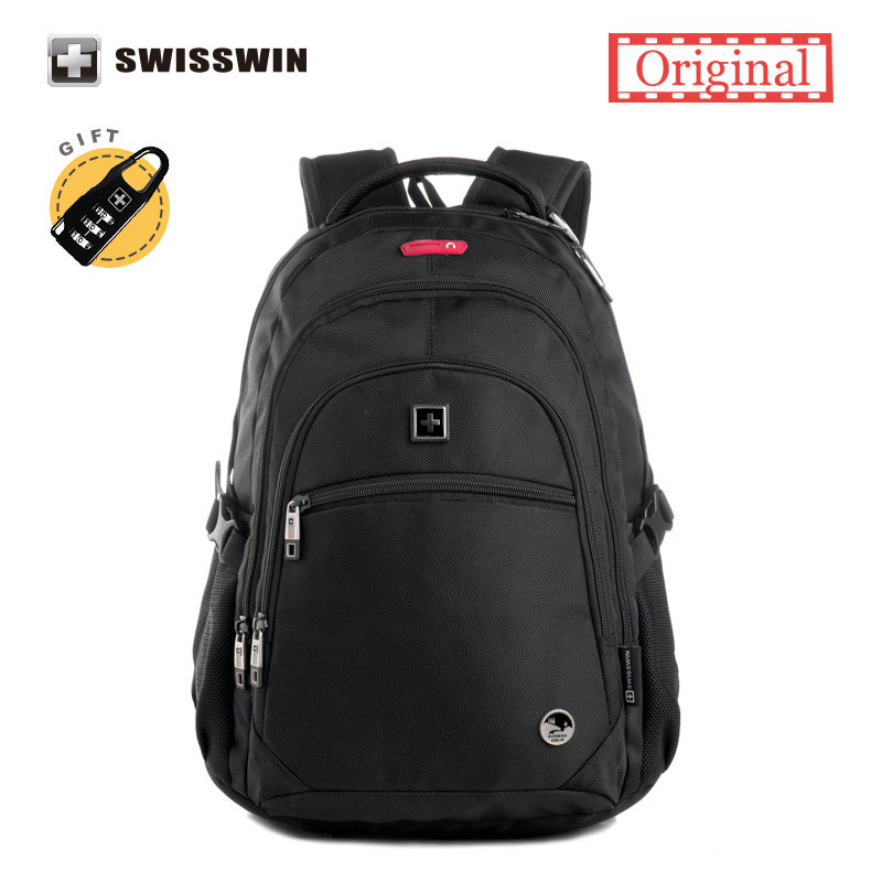 Swisswin Hot Sale Backpack Quality Men's Backpacks Waterproof 15 Laptop Bag Light Daily Mochila masculina Bagpack Sac a Dos hot sale good quality inductive