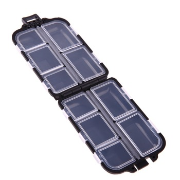 10 Compartments Mini Fishing Tackle Box Fish Lures Hooks Baits Plastic Storage Holder Square Case Pesca Fishing Accessories 1