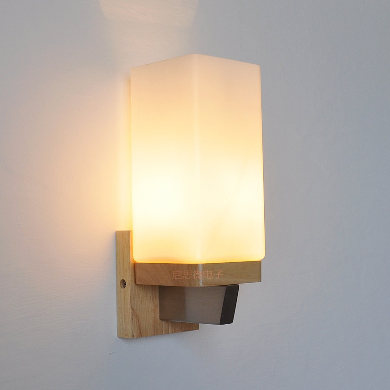 New Style Nordic Modern wooden wall light bed lamp hotel restroom wall lighting bathroom bedroom wall lamp AC90~265V modern lamp trophy wall lamp wall lamp bed lighting bedside wall lamp
