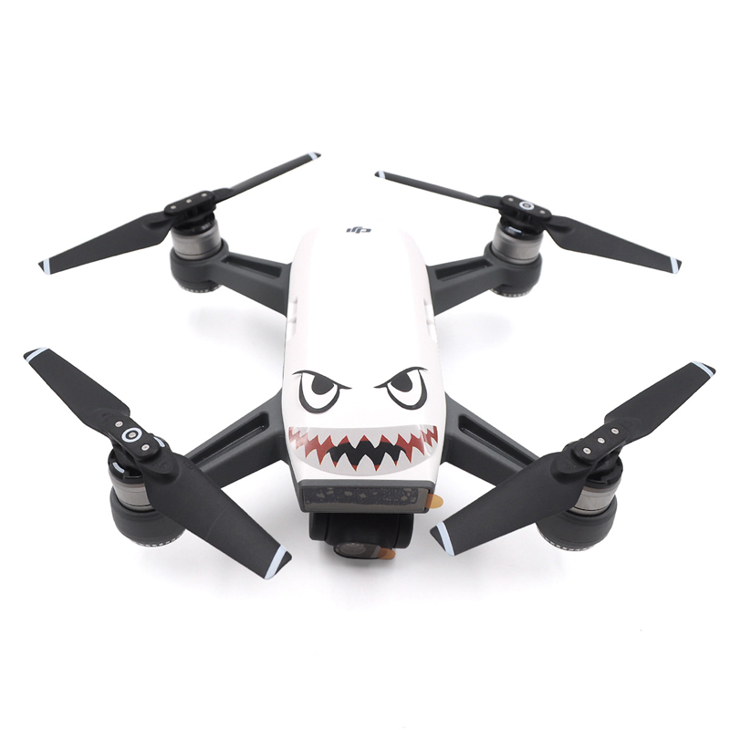 DJI Spark Body Battery Skin Sticker Shark Face Decal Drone 3M Waterproof Accessory For