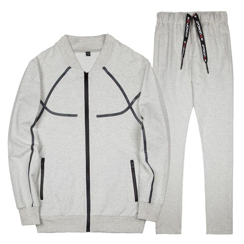 Brand Men's Sweatershirts Suits Spring Autumn New Fashion EUR Size Casual Sportwear Suit Men Leisure Suits AFTZ21