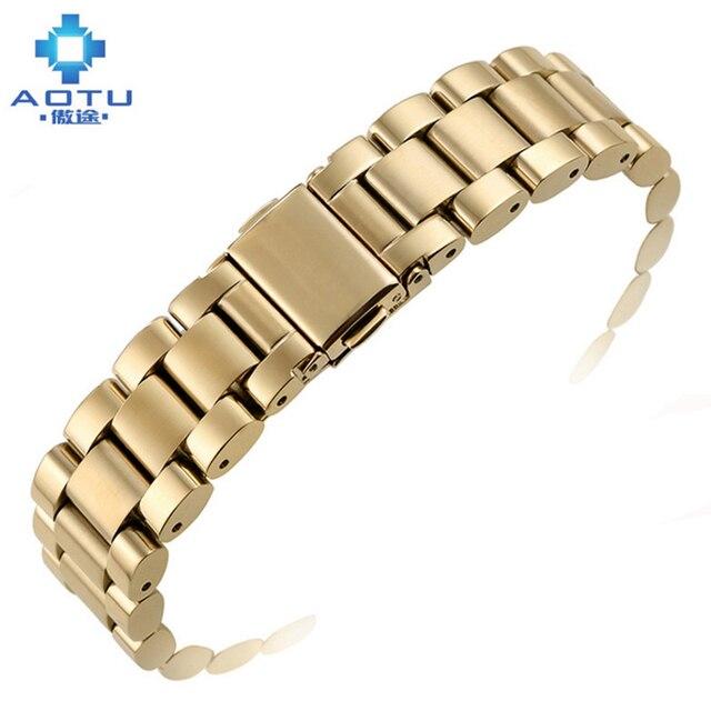 0a6c3c610ea Heren Rvs Horlogebanden Voor MICHAEL KORS MK5798 8107 Horloges Bandjes Voor  Dames Horloges 18mm 20mm Klok