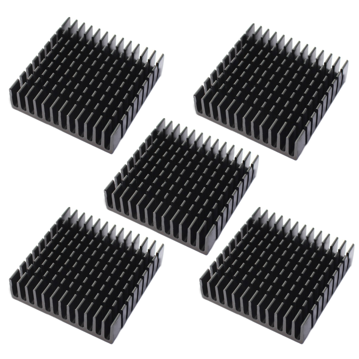 5pcs Black Heat Sink Mayitr Electronic Heat Dissipation Cooling Aluminum Heatsink For LED Power Transistor 40*40*11mm jeyi cooling warship copper m 2 heatsink nvme heat sink ngff m 2 2280 aluminum sheet thermal conductivity silicon wafer cooling