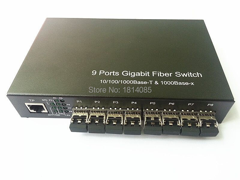 8 * GIGA SFP + 1 * 10/100 / 1000M TX ethernet-vezel Ethernet met 8 * - Communicatie apparatuur