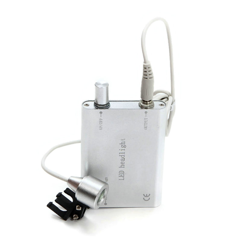 Dentist Dental Portable Silver LED Head Light Lamp for Dental Surgical Medical Binocular Loupes with Case Available
