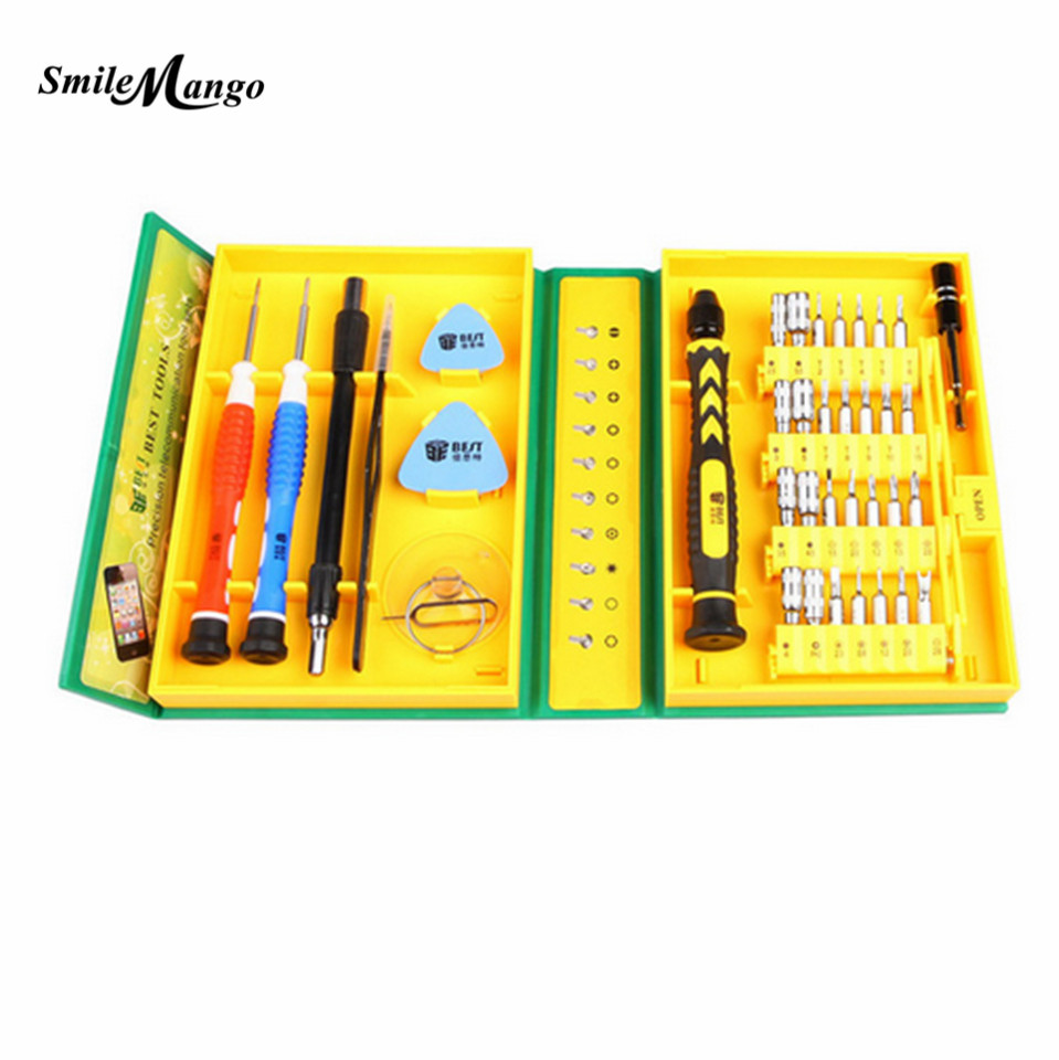 38 in 1 Versatile Repair Tool Precision Screwdriver Electronic Hardware Repair Tool Kit for iPhone Mobile Phone Laptop BEST-8921
