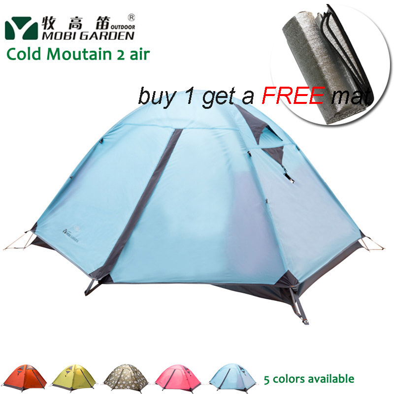 Mobi Garden Cold Mountain 2AIR 2-people 3-season Camping Aluminum Pole Professional Double Layer Outdoor Tent 2 people portable parachute hammock outdoor survival camping hammocks garden leisure travel double hanging swing 2 6m 1 4m 3m 2m