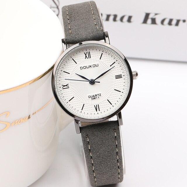 New Arrival Vintage Leather Quartz Watches Men Women Simple Classical Style Fash