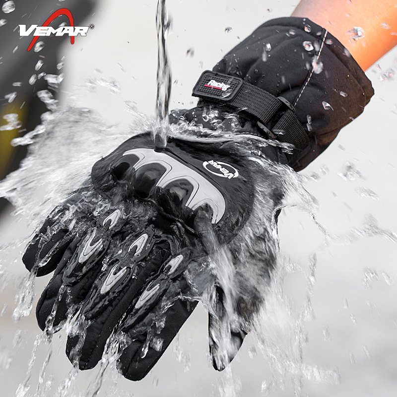 Winter Motorcycle Waterproof Gloves Touch Screen Riding Electric Bike Cold Insulation Windproof Motorcycle Gloves for Men