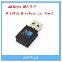Newest 300Mbps USB Wifi Adapter Chipset RTL8192 Wireless Lan Card for desktop computer Wifi Receiver(China (Mainland))