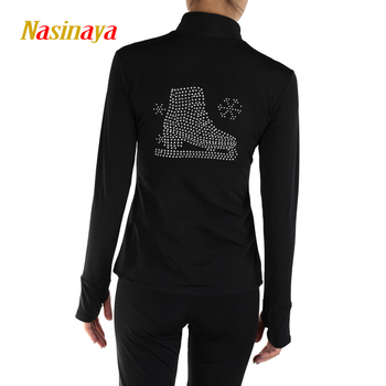 Customized Figure Skating Jacket Zippered Tops for Girl Women Training Competition Patinaje Ice Skating Warm Fleece Gymnastic 27