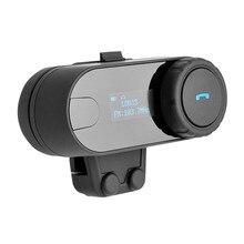 1Pcs 800m Portable Waterproof Dustproof Motorcycle Helmet Bluetooth Headset Intercom Interphone LED Display For Phone#288691