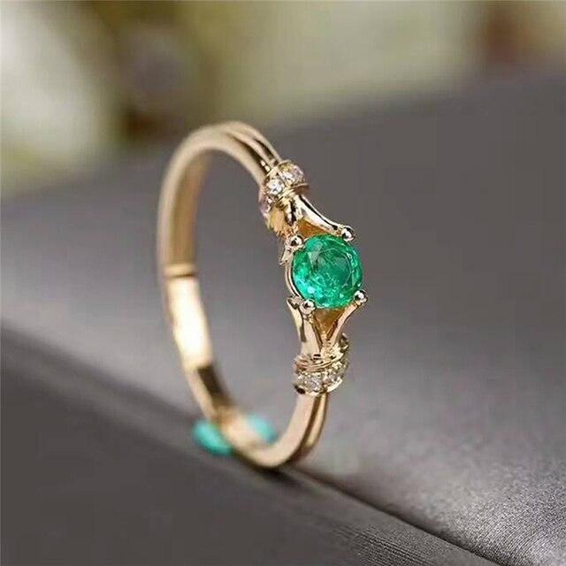 dainty gemstone ring boho gift for mom gift-for-her gemstone ring gift ideas for her - Delicate Green Chalcedony Ring