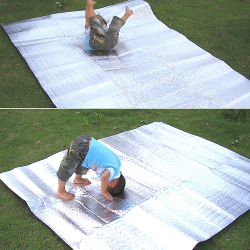 Outdoor camping mat air mattress picnic blanket picnic mat pads Aluminum Foil mat Camping Dampproof beach mat 3 Sizes коврик для кемпинга camping mat 59 x 79 150 200 picnic mat