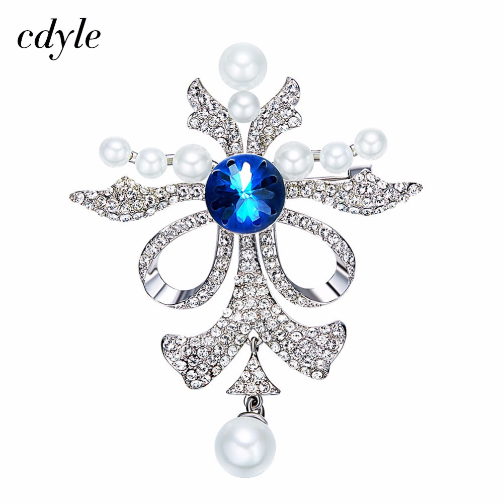 Cdyle Crystals from Swarovski Brooches Women Austrian Rhinestone Fashion  Jewelry Elegant Butterfly Shape With Simulated e05fc3b4637d