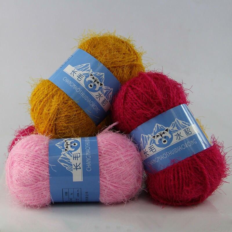 500 g sac Longue Vison Fils Écharpe Châle Ligne Vison Cachemire de Haute  Qualité Confortable tricoté à La Main Fil Pour Le Tricotage Crochet fil 14a9ca68079
