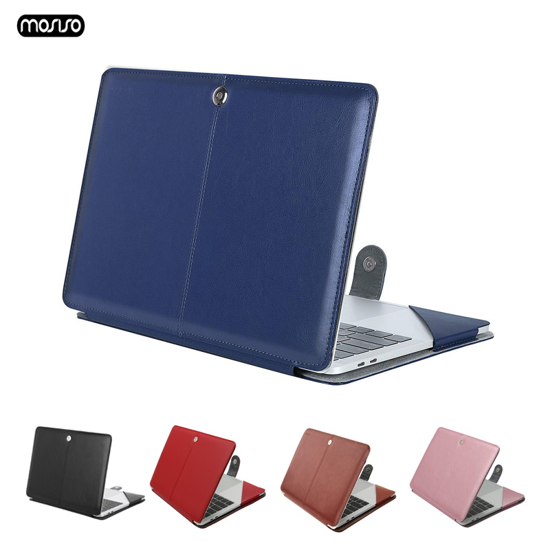 MOSISO Case for Macbook Pro 15 Case For Laptop Bag Sleeve Leather Notebook Bag for Mac Book Pro 15 With Touch Bar A1707 A1990-in Laptop Bags & Cases from Computer & Office