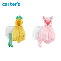 Carters Halloween baby clothes set cute pineapple hooded baby boy clothes pink piglet baby girl clothing set 119G410/119G411