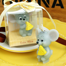 smokelss scented cartoon animal cute mouse Cake decorated candles for children kid birthday party decor and wedding party gifts