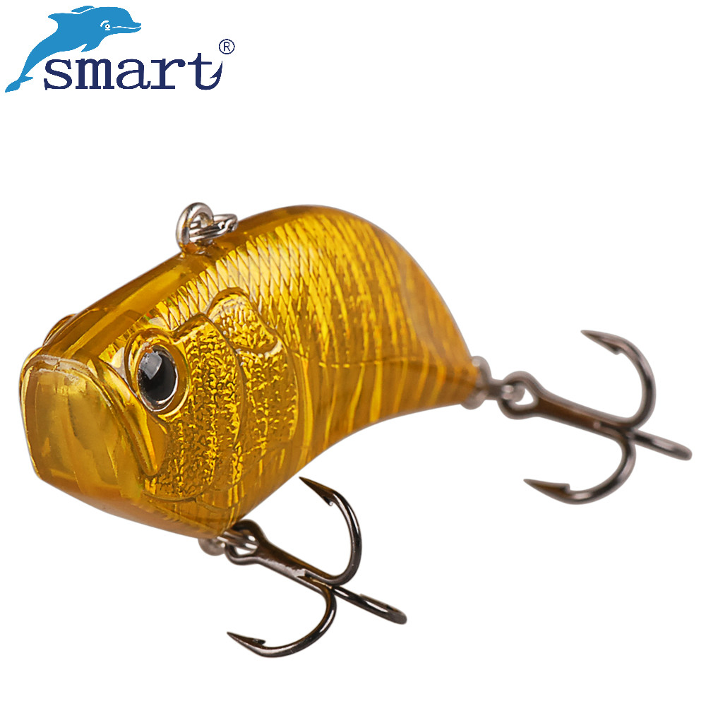Smart VIB Lure 5.5cm 12.8g Sinking Fishing Lures Hard Bait VMC Hook Iscas Artificiais Para Pesca Leurre Peche Fishing Wobblers 1pcs big popper bait hard fishing lure 12cm 42g vmc treble hook artificial bait surface water peche pesca wobber leurre