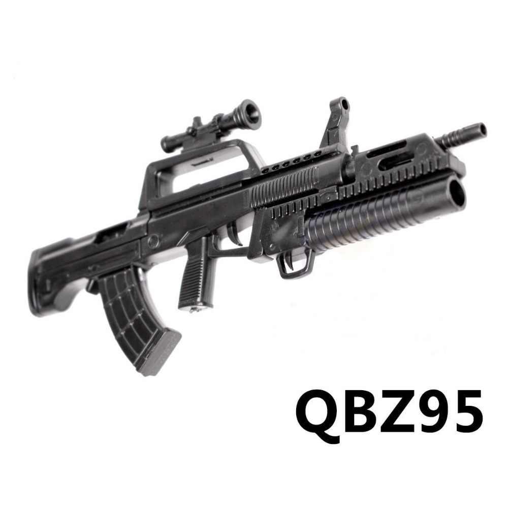 1:6 1/6 skala 12 cal figurki QBZ-95 karabin Launcher Model pistolety dla 1/100 MG Bandai Gundam Model broń może używać dzieci zabawki