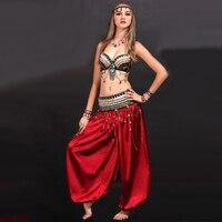Belly Dance Costume Black Roupas Academia Feminina S M L Gypsy Clothes 3piece Bra Waist Sealing