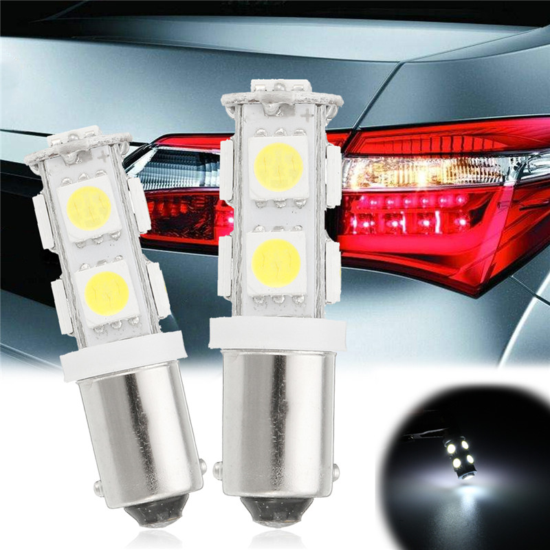 2PCS BAX9S H6W 9 SMD 5050 LED CANBUS Side Parking Light Bulbs Car DRL Interior Bulbs 12V Lights LED White Bulbs 2pcs brand new high quality superb error free 5050 smd 360 degrees led backup reverse light bulbs t15 for jeep grand cherokee