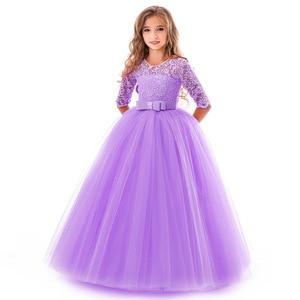 Image 5 - Vestido para meninas, vestido de festa de aniversário da menina flor banquete vestido primeiro vestido de festa de eucharsta vestido de festa pequena dama de honra vestido de festa de casamento