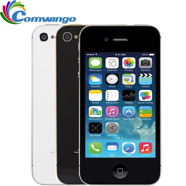 Разблокирована Apple IPhone 4S телефон 8 ГБ/16 ГБ/32 ГБ Встроенная память белый черный IOS GPS Wi-Fi GPRS бесплатный подарок Бесплатная доставка iPhone 4S мобильного телефона