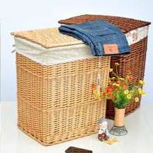 Free Shipping Natural Wicker Large Storage Basket Dirty Hotel Supplies Towels Home Furnishing Sundries Storage Basket