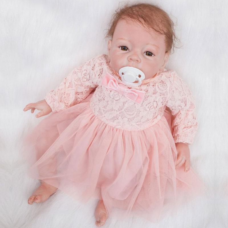 BeBe Reborn 22inch Soft Silicone Reborn Dolls Toys 55cm Lifelike Newborn Girl Baby Doll Juguetes Babies Birthday Gift Brinquedos