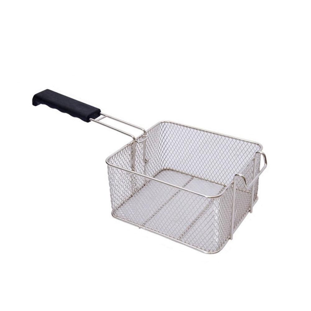 In acciaio Inox Profonda Grasso Friggitrice Cestino Olio Fritto Chip di Pesce Pepite Fry Cibo Cucina Cuoco Pan Hogard JY14